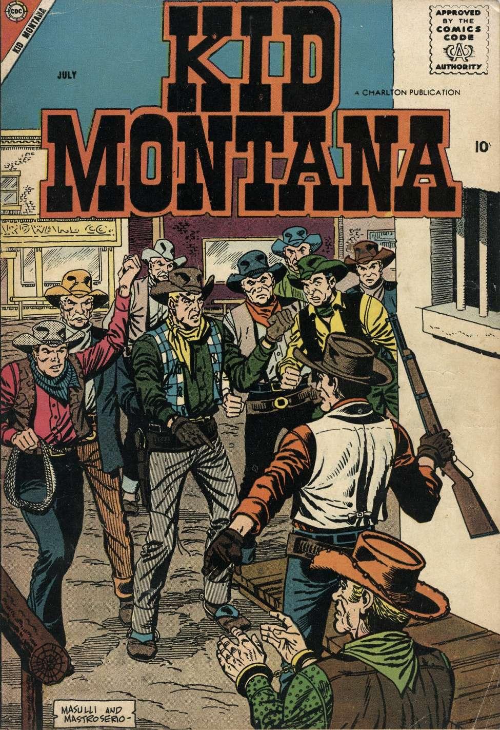 Comic Book Cover For Kid Montana #13