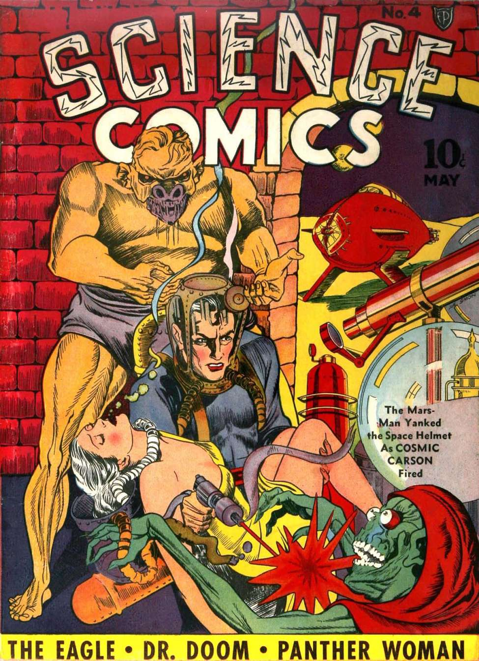 Comic Book Cover For Science Comics #4