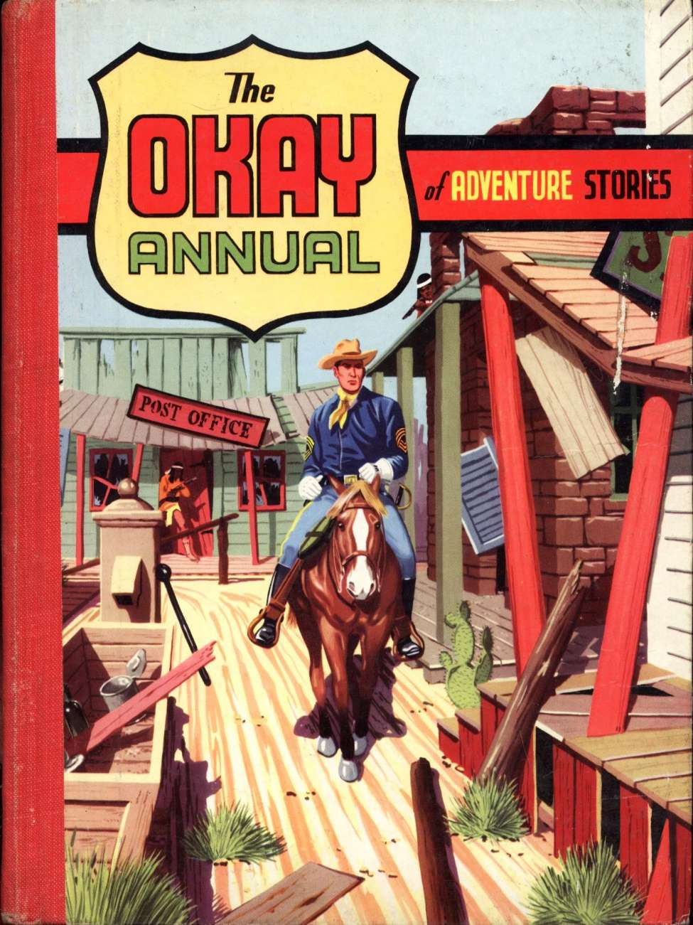 Comic Book Cover For Okay Annual of Adventure Stories 2