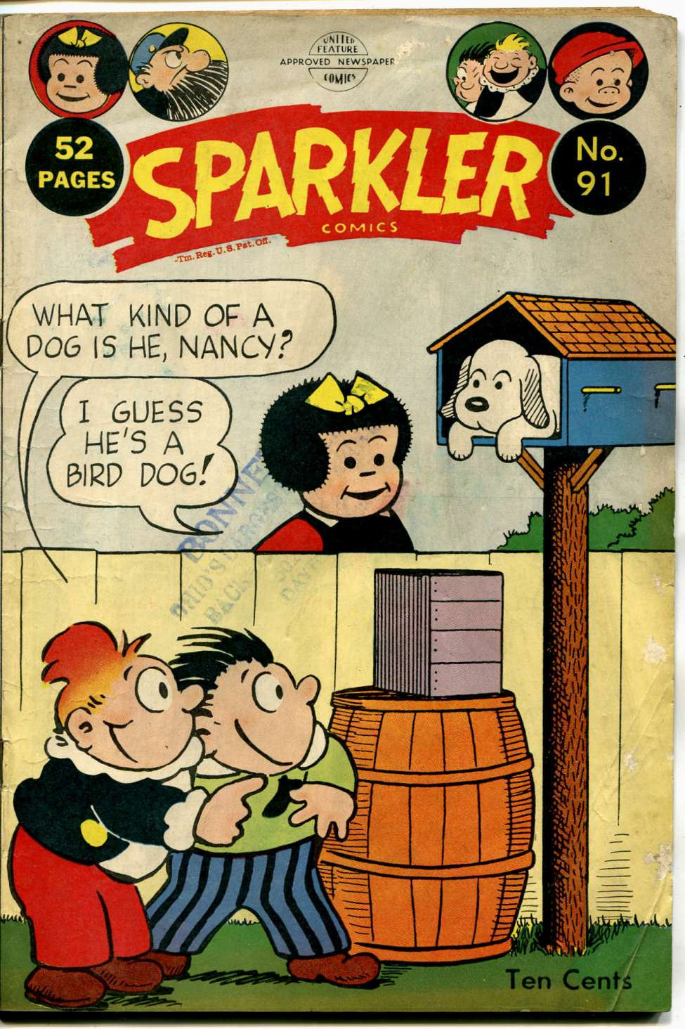 Comic Book Cover For Sparkler Comics 091