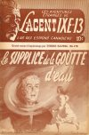 Cover For L'Agent IXE 13 v2 178 Le supplice de la goutte d'eau