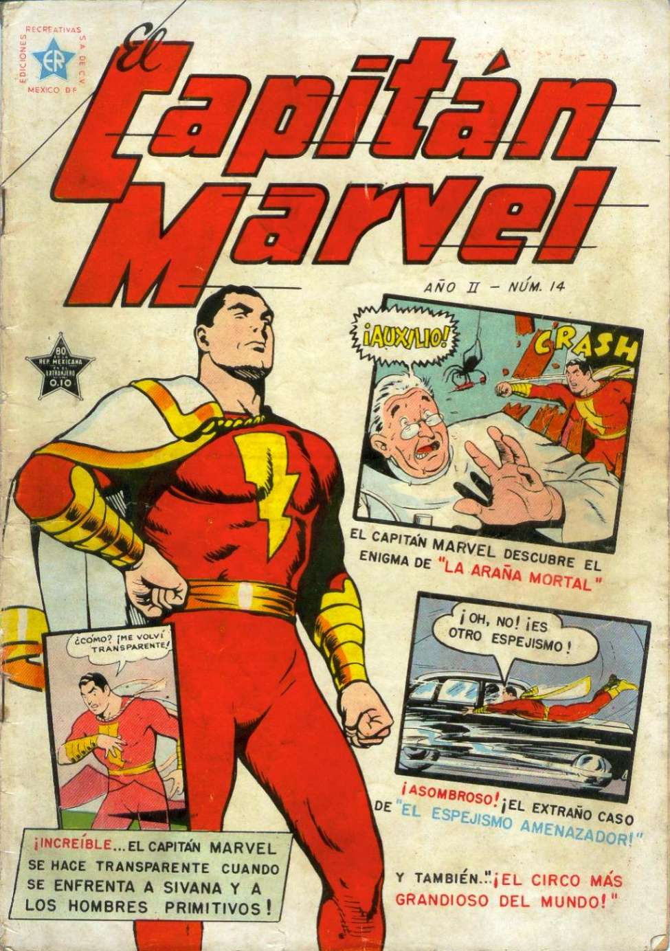 Comic Book Cover For El Capitan Marvel 14