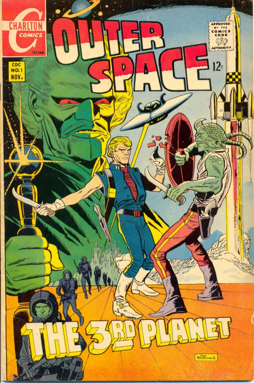 Comic Book Cover For Outer Space #1