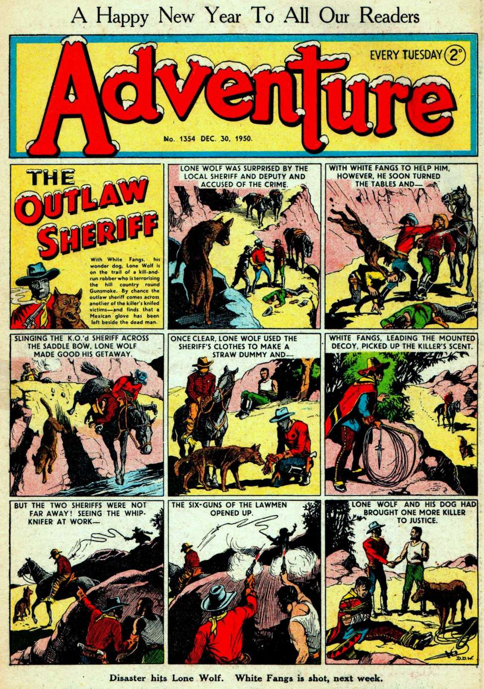 Comic Book Cover For Adventure #1354