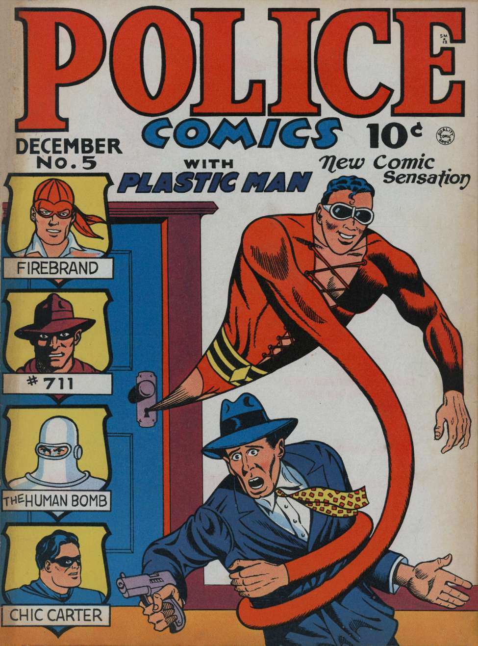 Comic Book Cover For Police Comics #5