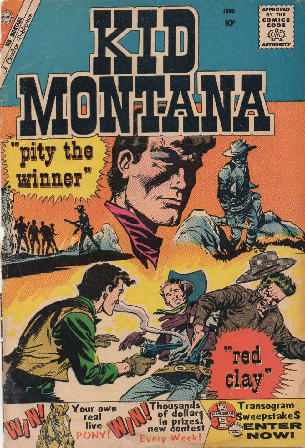 Comic Book Cover For Kid Montana #23