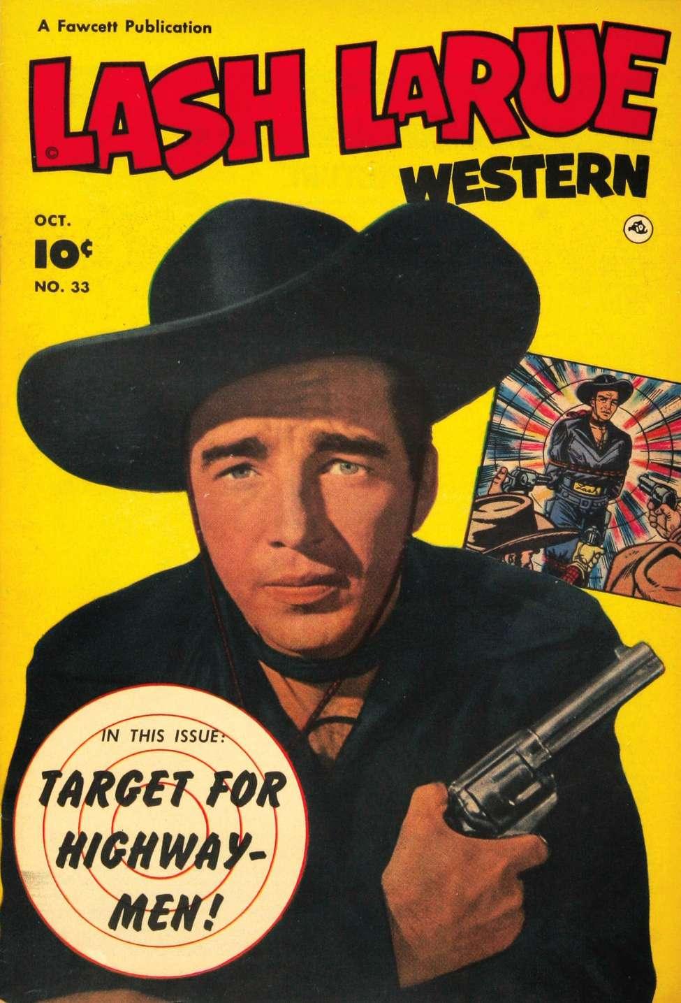 Comic Book Cover For Lash Larue Western #33