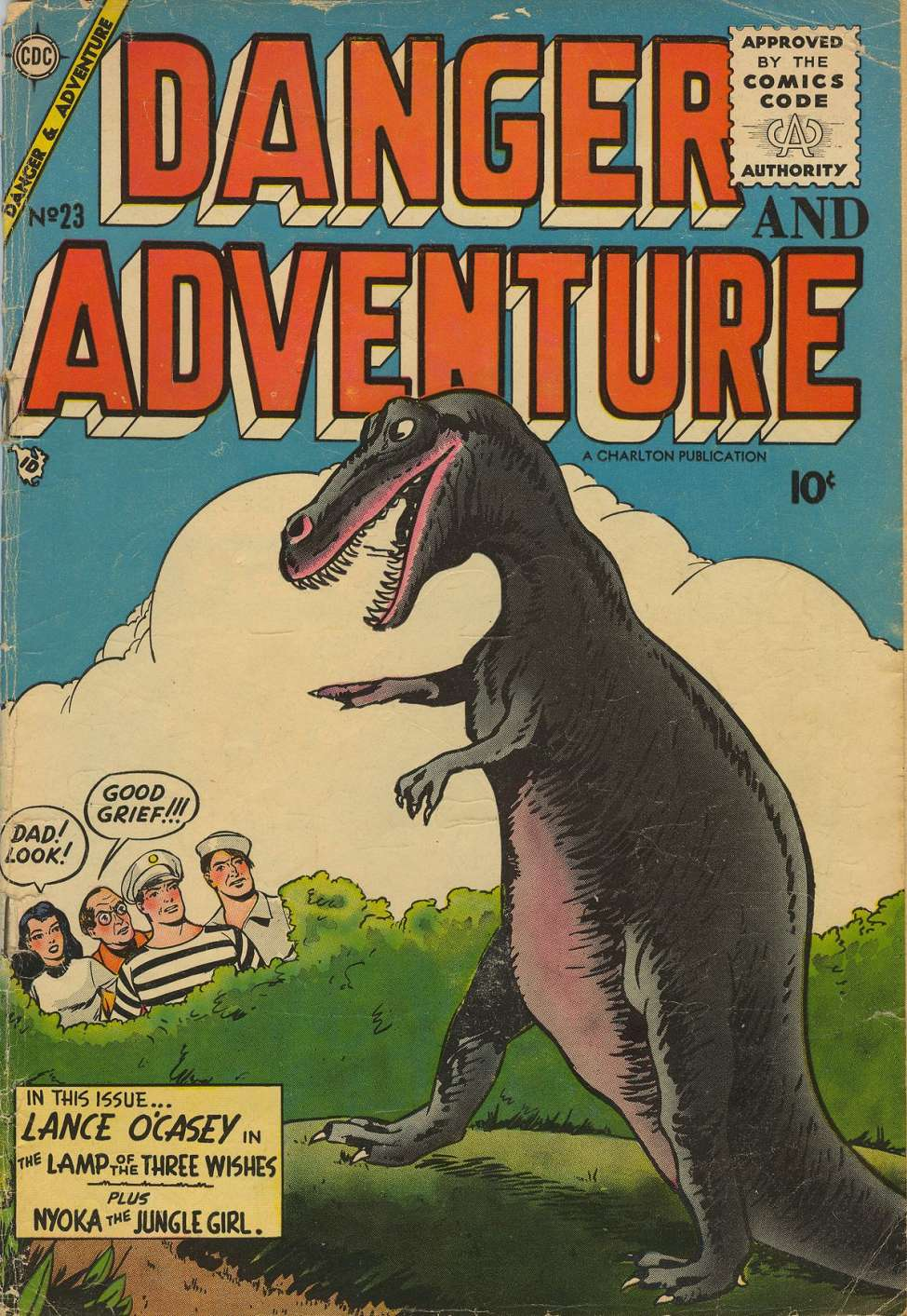 Comic Book Cover For Danger and Adventure #23
