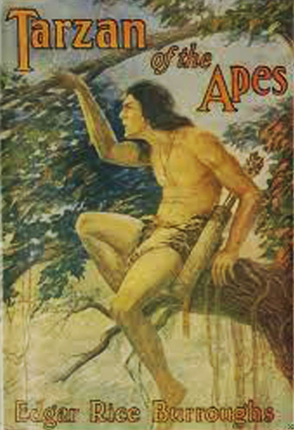 Comic Book Cover For Tarzan of the Apes (1918)