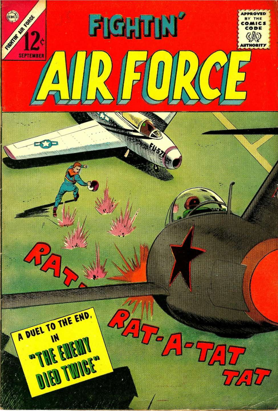 Comic Book Cover For Fightin' Air Force #40
