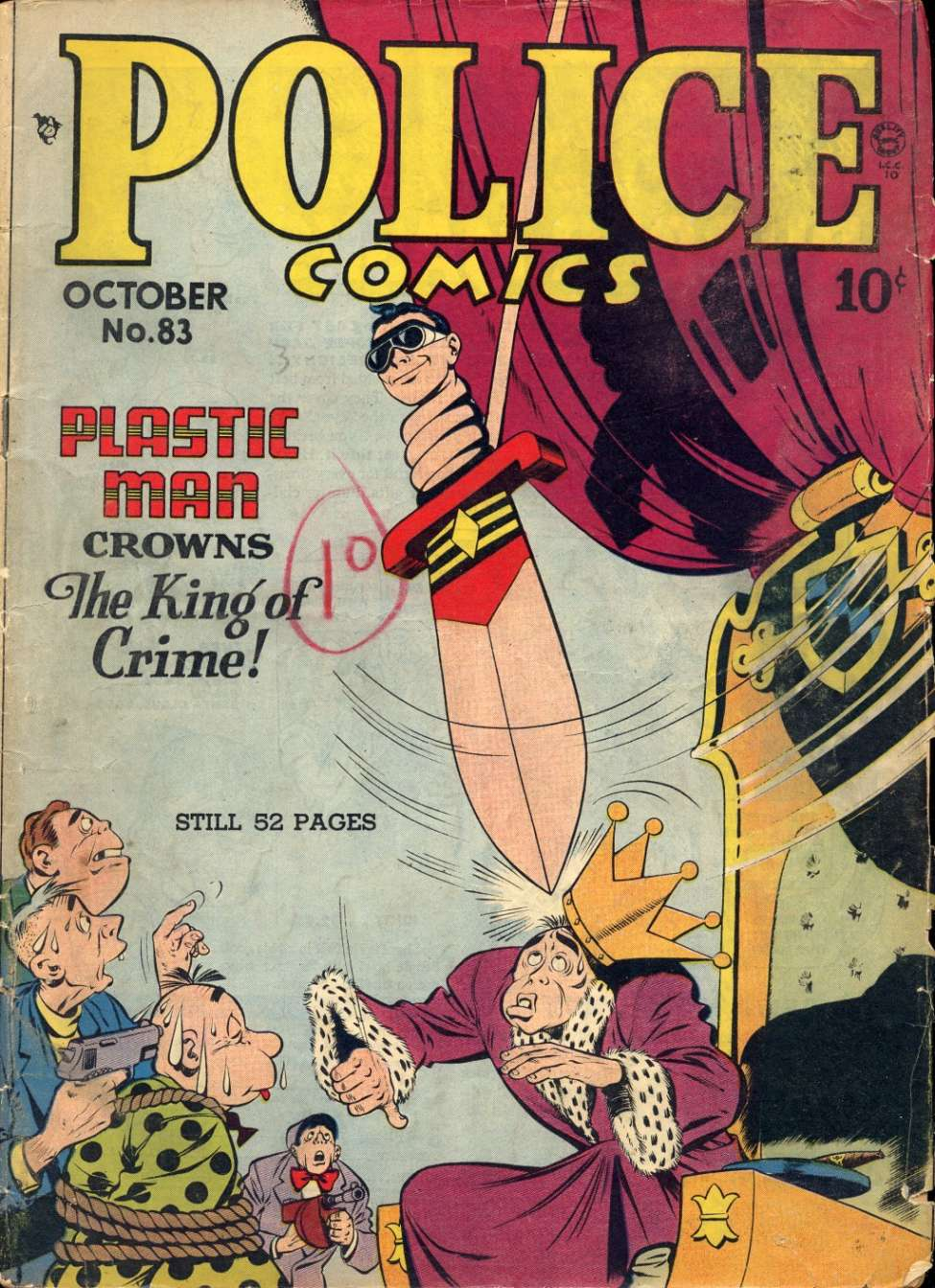 Comic Book Cover For Police Comics #83