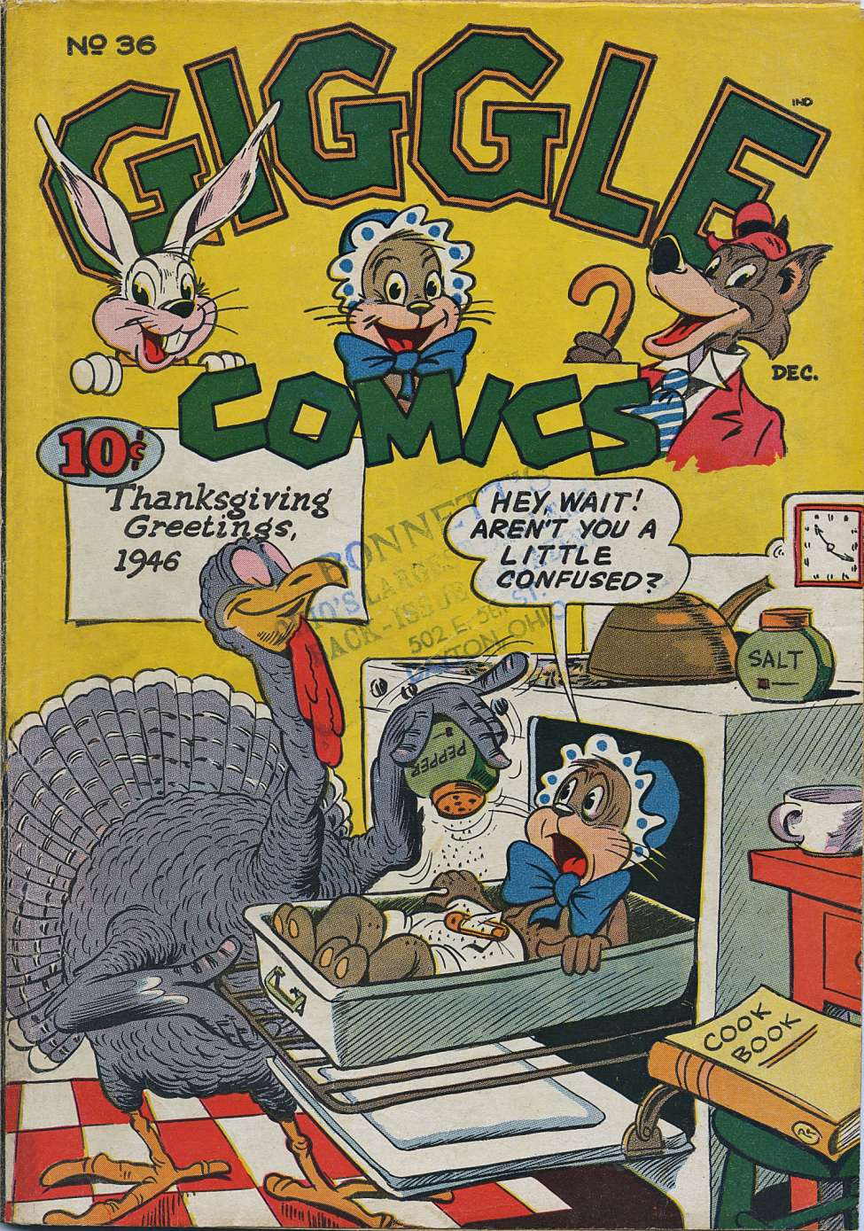 Comic Book Cover For Giggle Comics #36