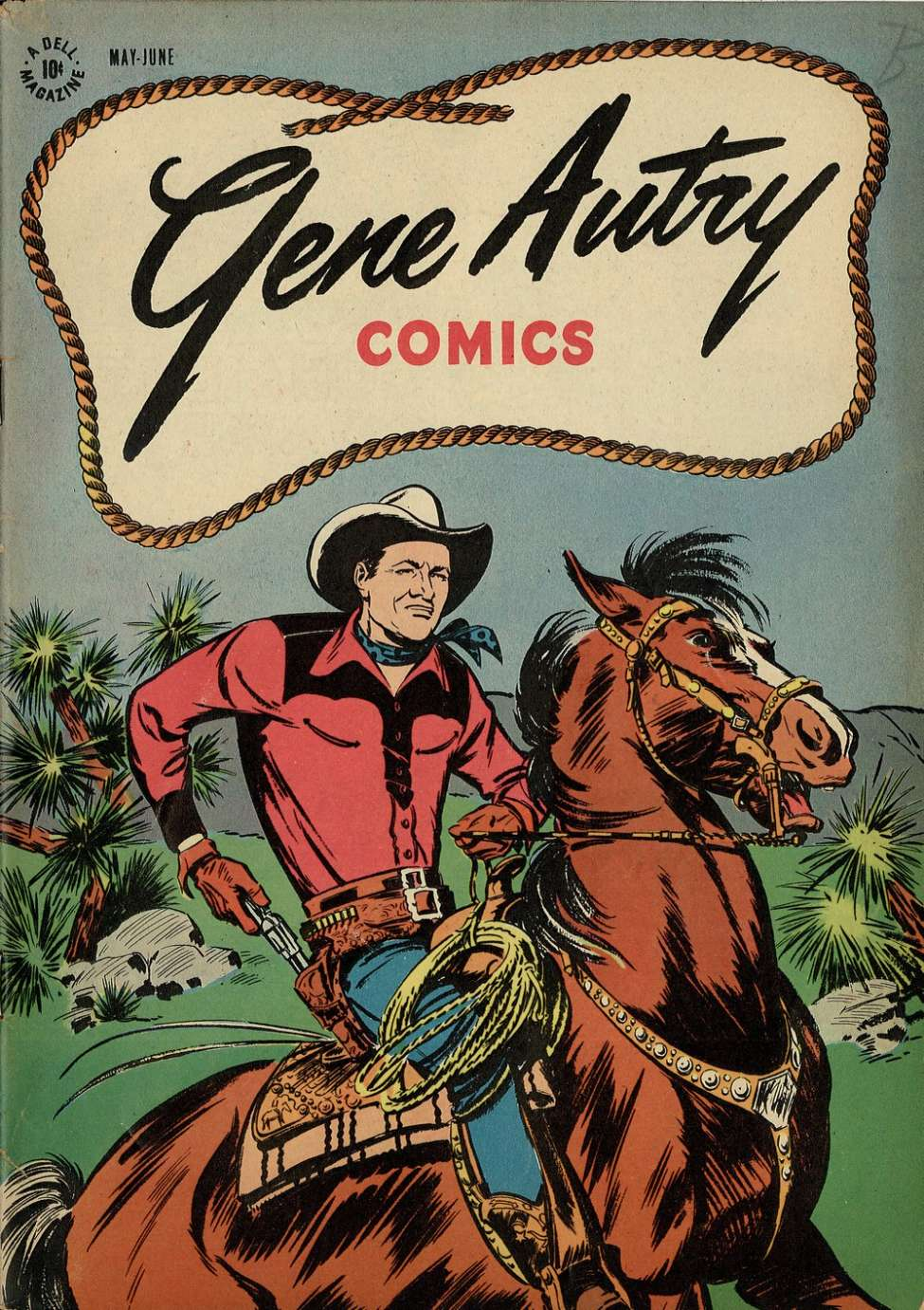 Comic Book Cover For Gene Autry Comics #1