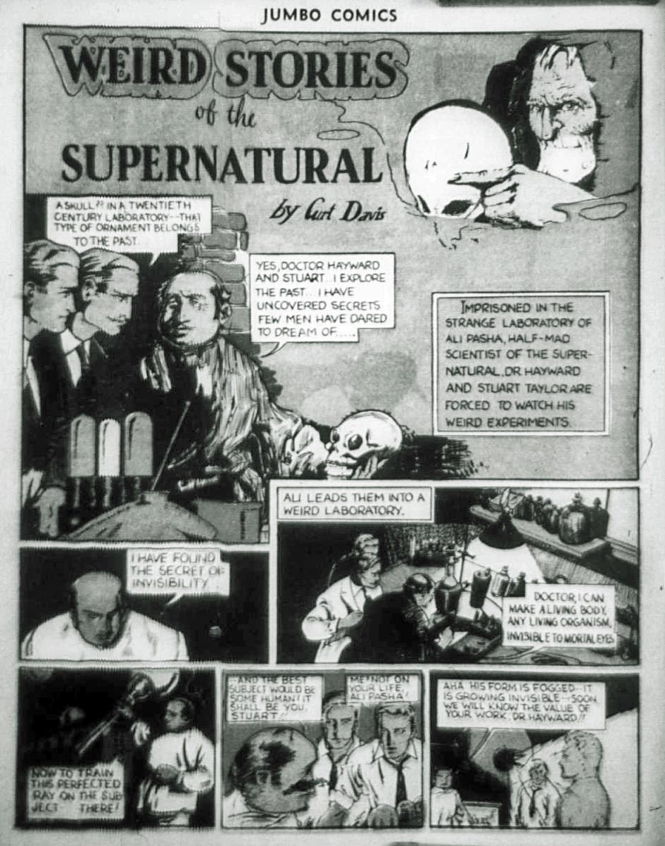 Comic Book Cover For Weird Stories of the Supernatural Archives Vol 01