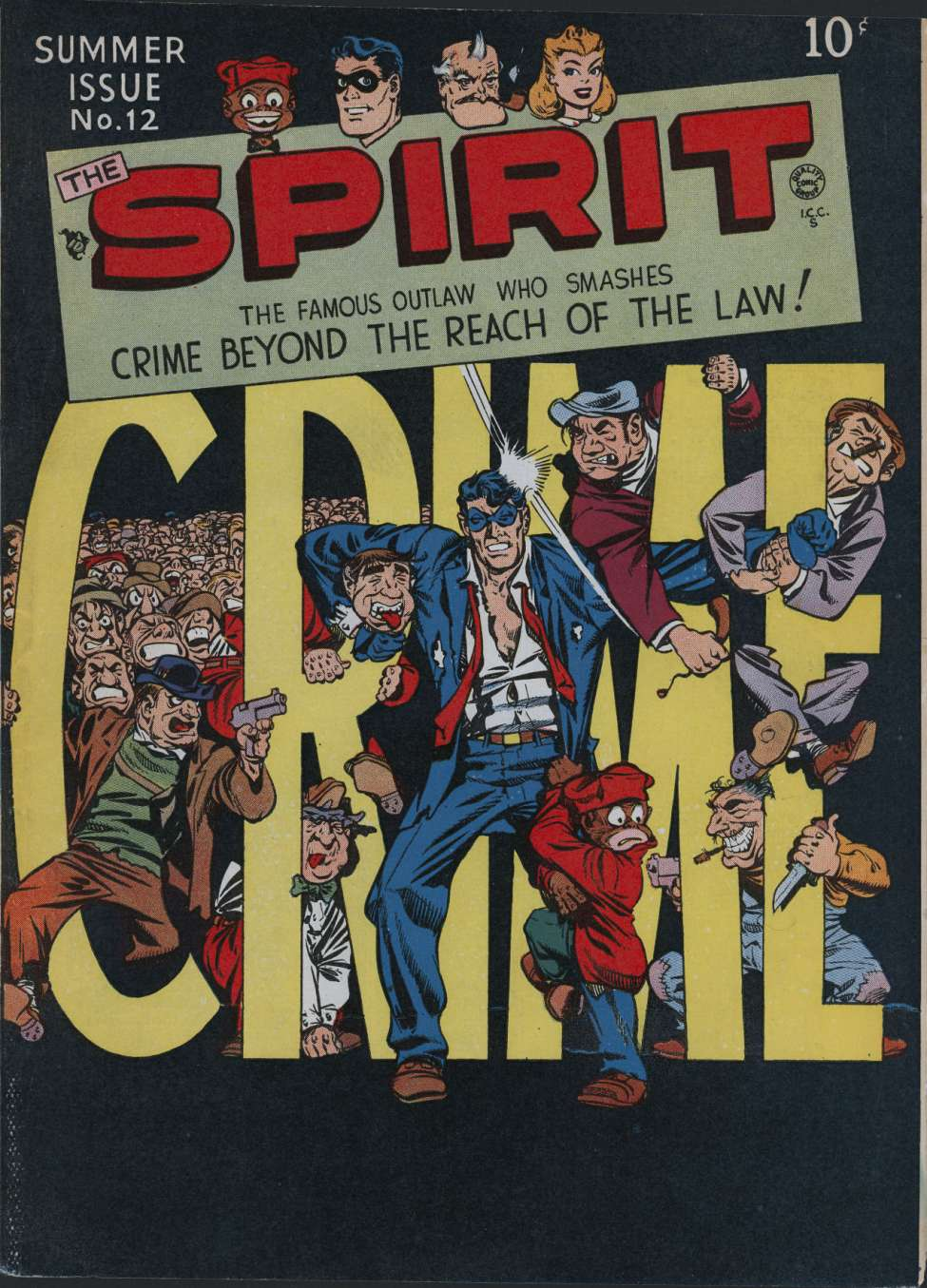 Comic Book Cover For The Spirit #12