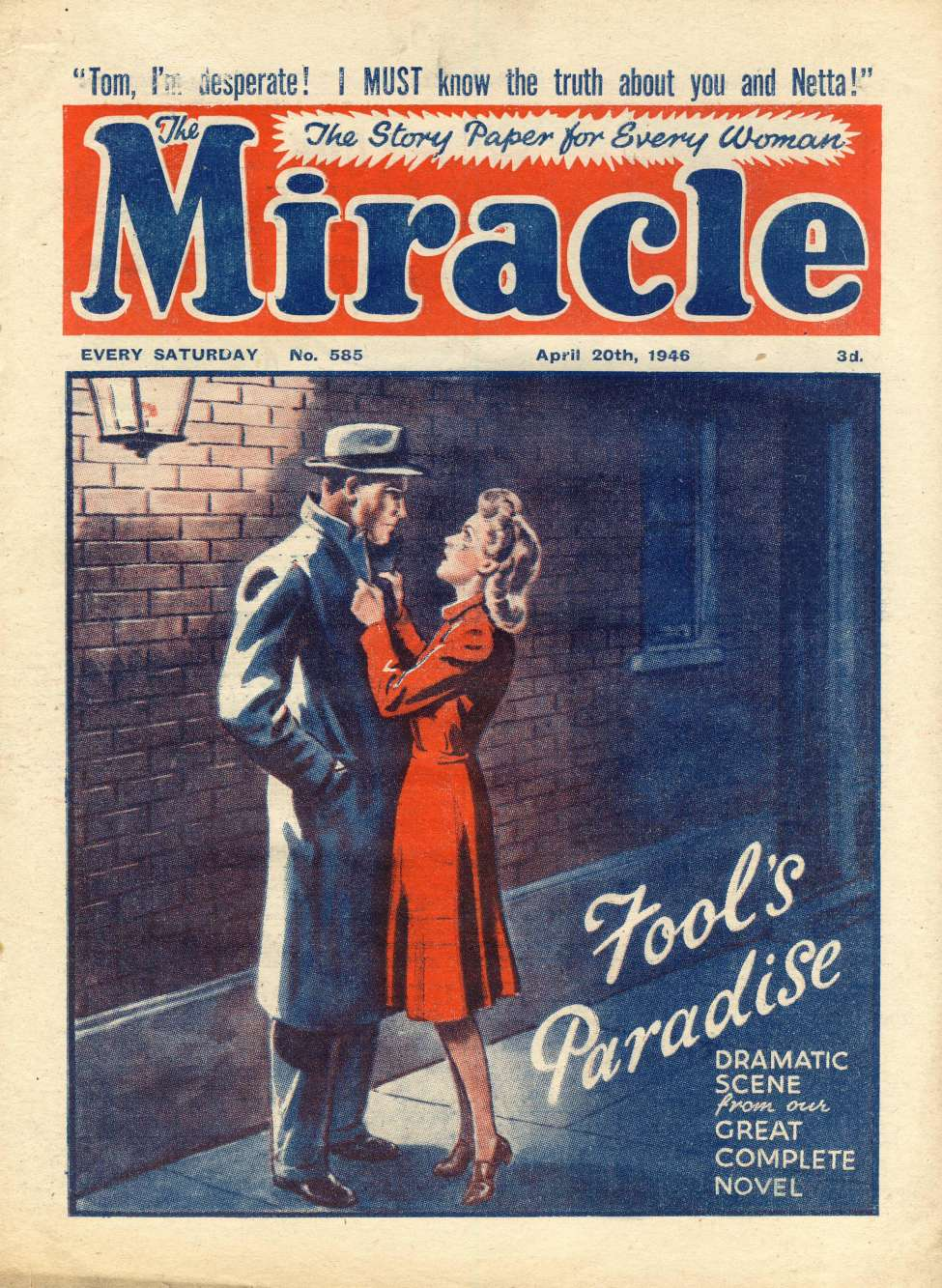 Comic Book Cover For Miracle 0585 - Fool's Paradise
