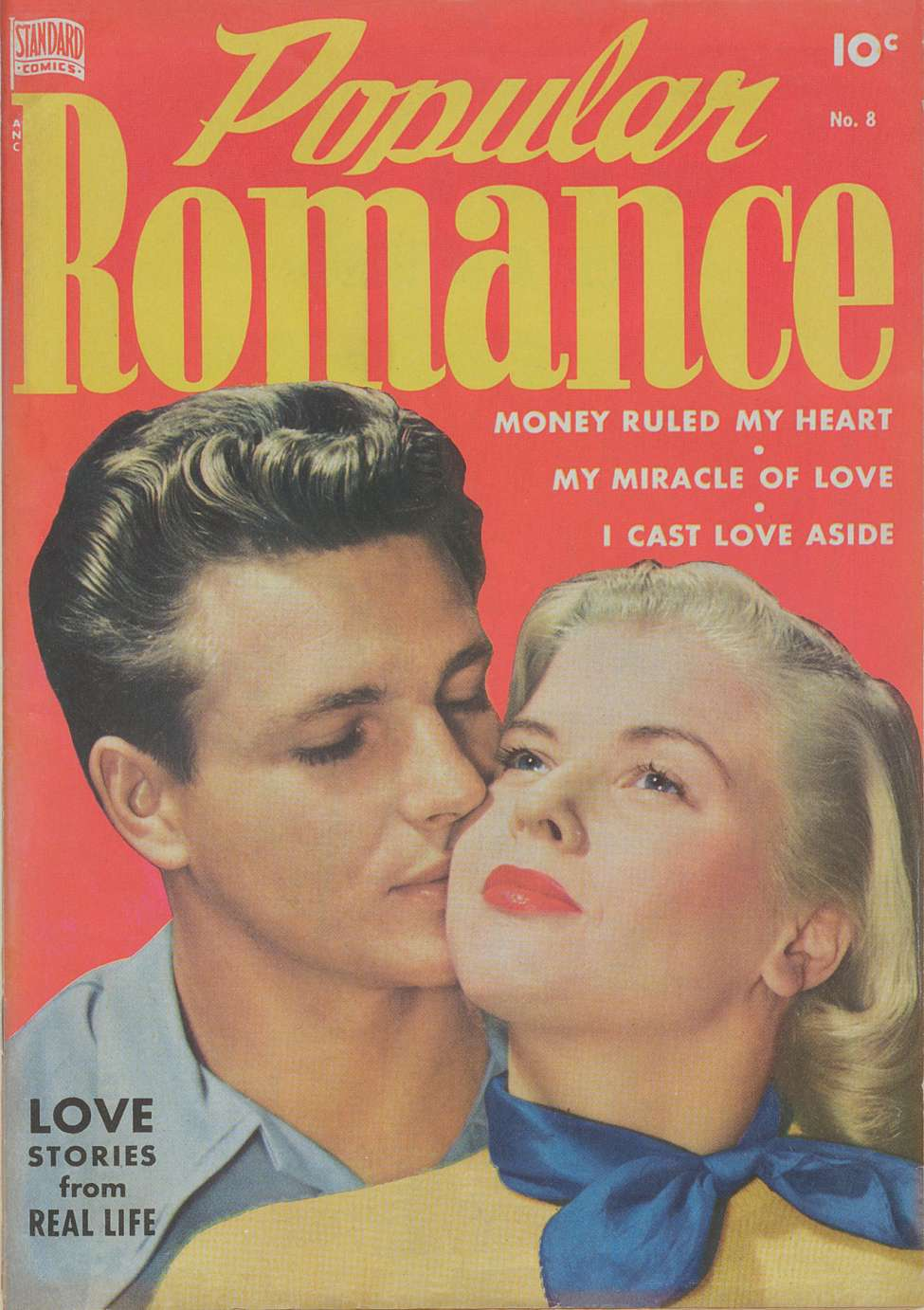 Comic Book Cover For Popular Romance #8