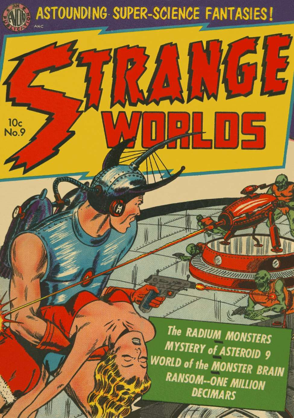Comic Book Cover For Strange Worlds #9