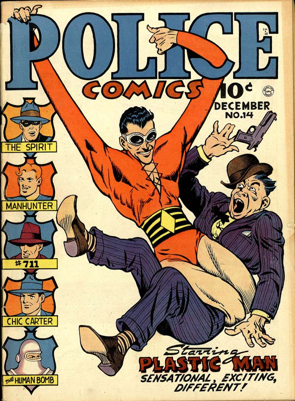 Comic Book Cover For Police Comics #14
