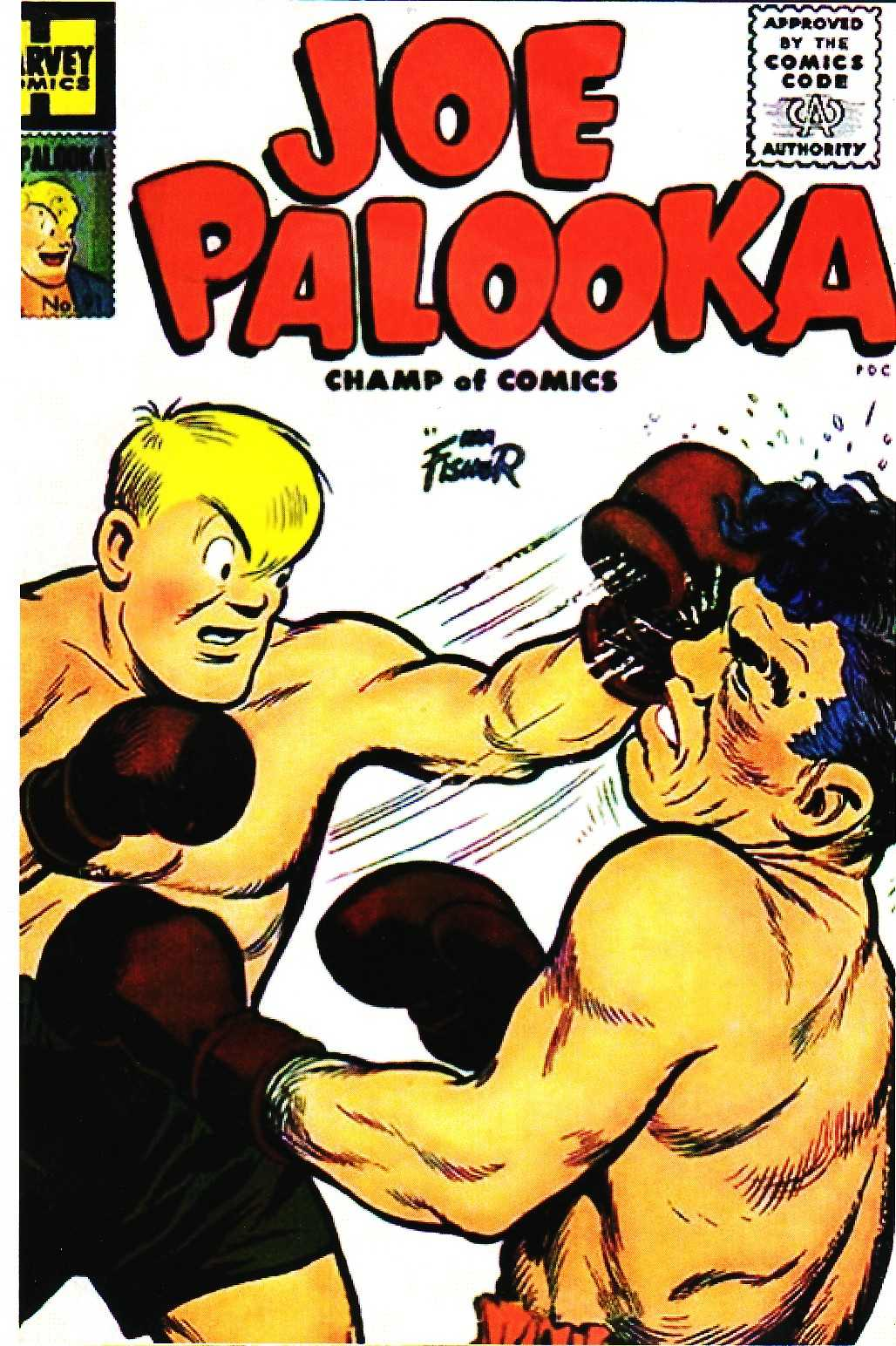 Comic Book Cover For Joe Palooka Comics #91