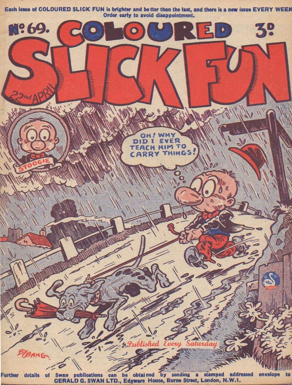 Comic Book Cover For Coloured Slick Fun #69