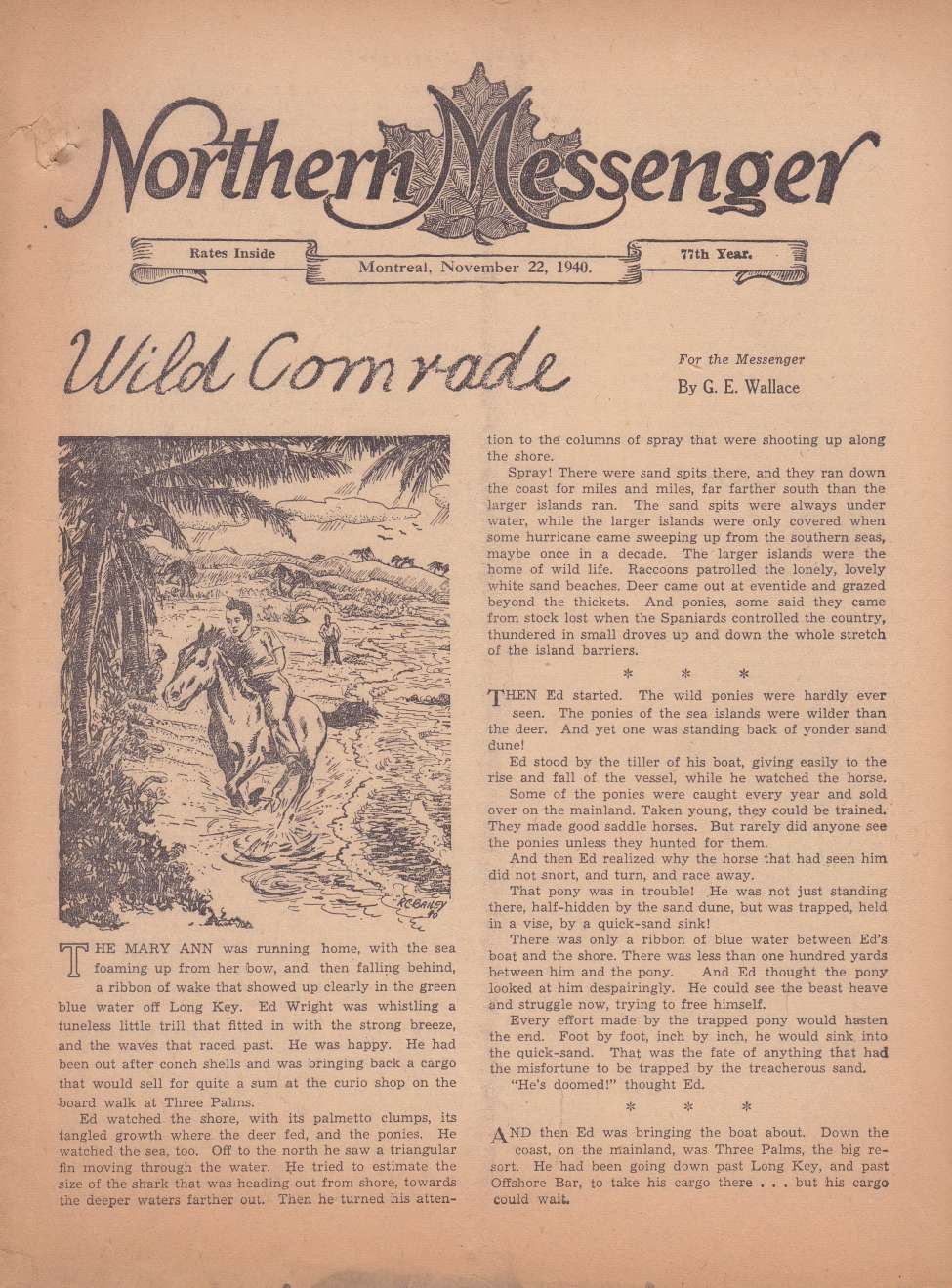 Comic Book Cover For Northern Messenger (1940-11-22)