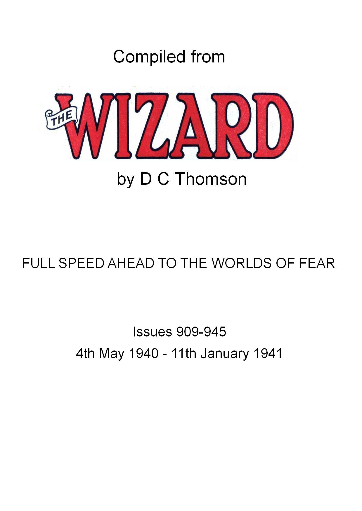 Comic Book Cover For Full Speed Ahead To The Worlds Of Fear