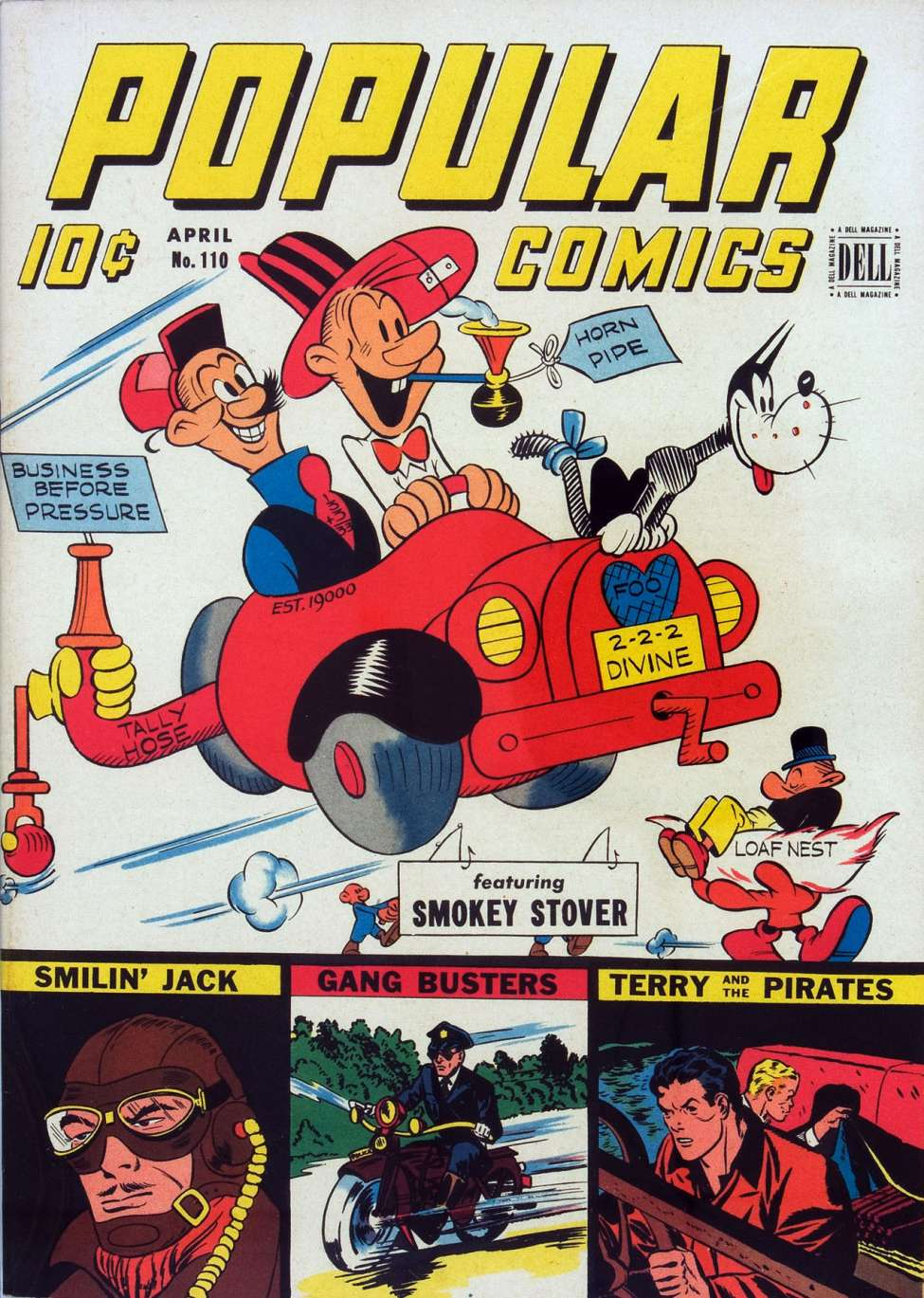 Comic Book Cover For Popular Comics #110