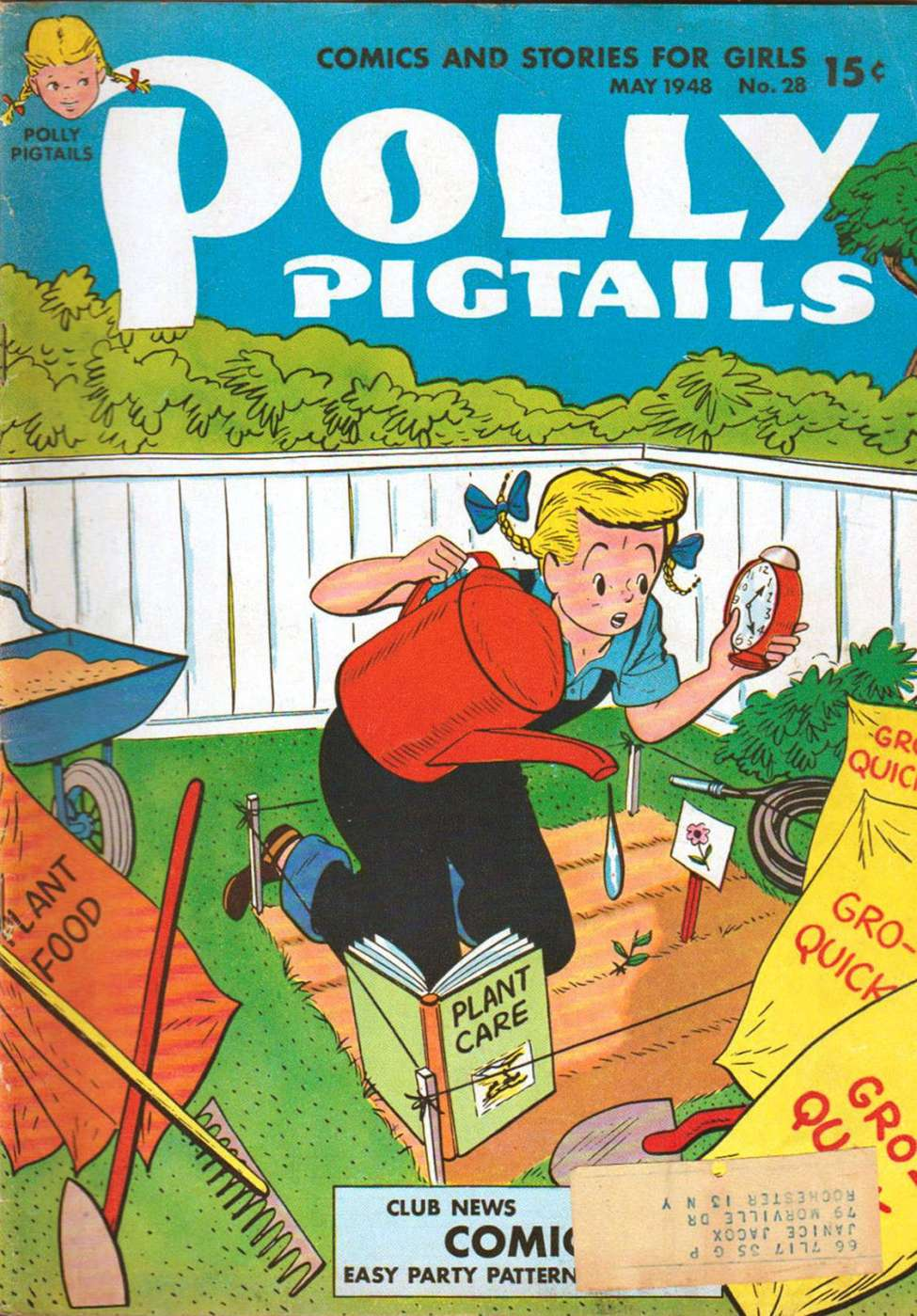 Comic Book Cover For Polly Pigtails #28