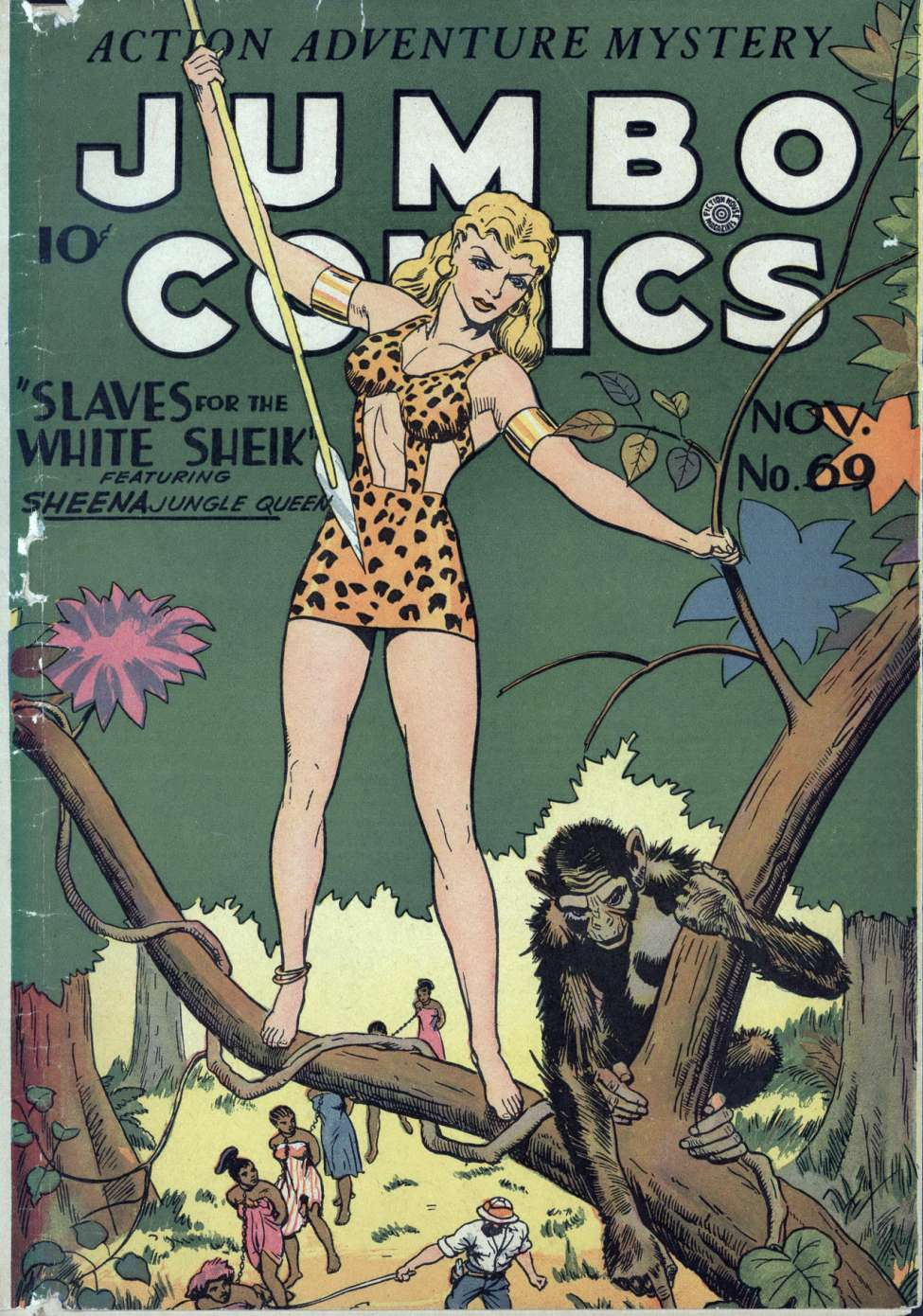 Comic Book Cover For Jumbo Comics #69