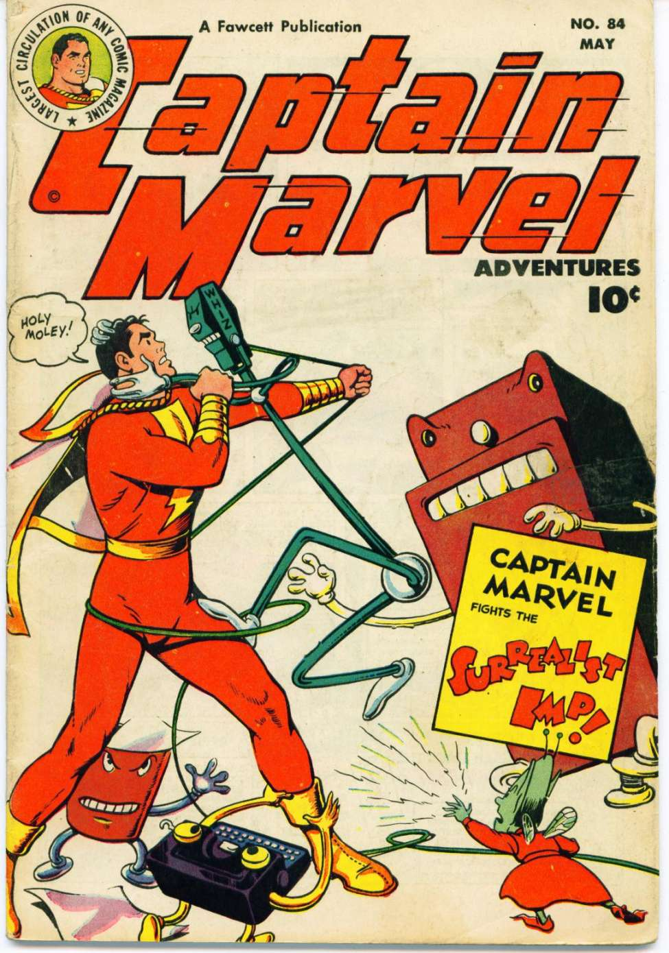 Comic Book Cover For Captain Marvel Adventures #84