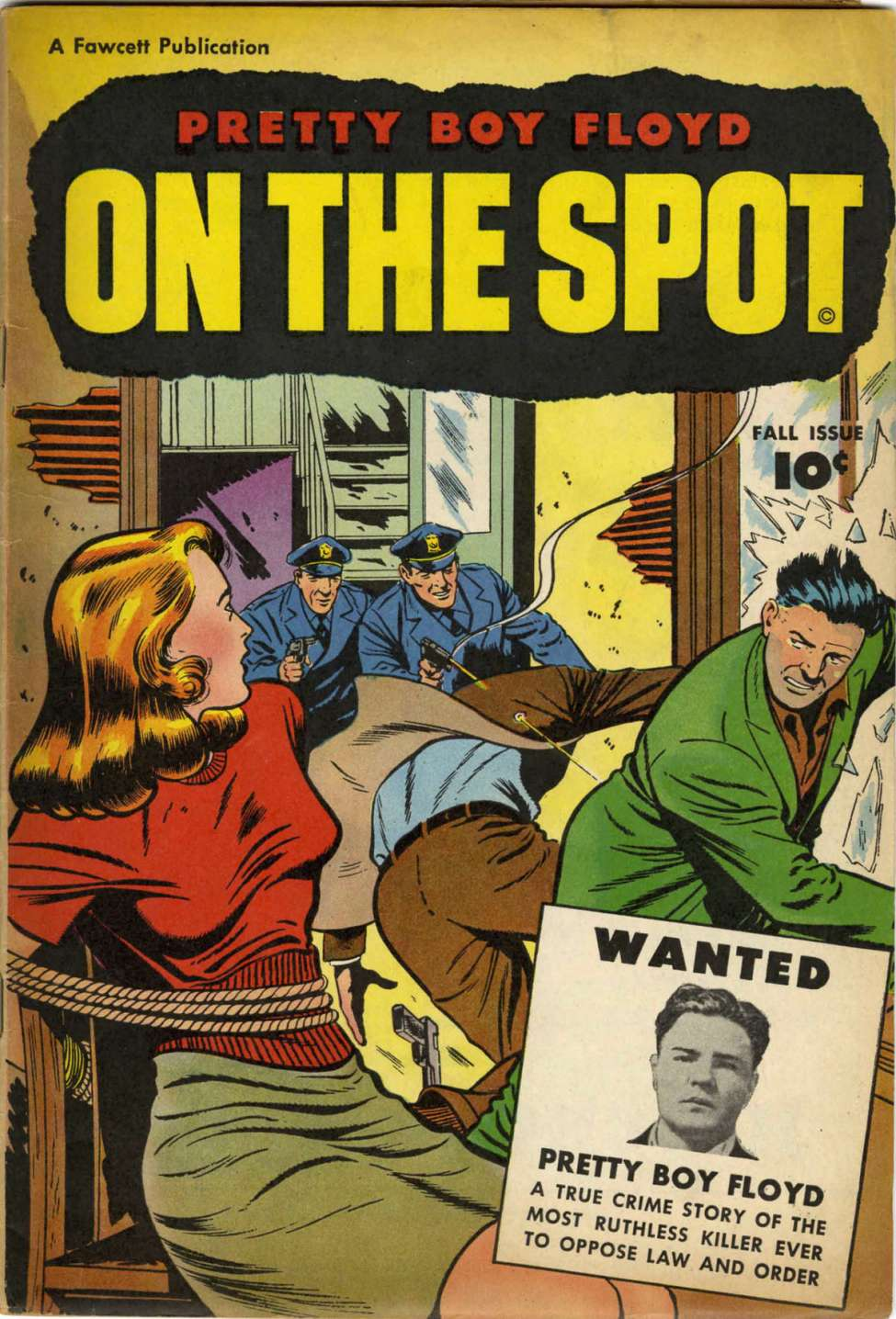 Comic Book Cover For On The Spot Pretty Boy Floyd