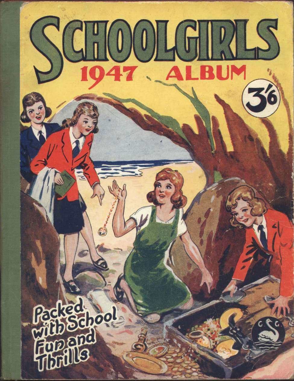 Comic Book Cover For Schoolgirls Album 1947