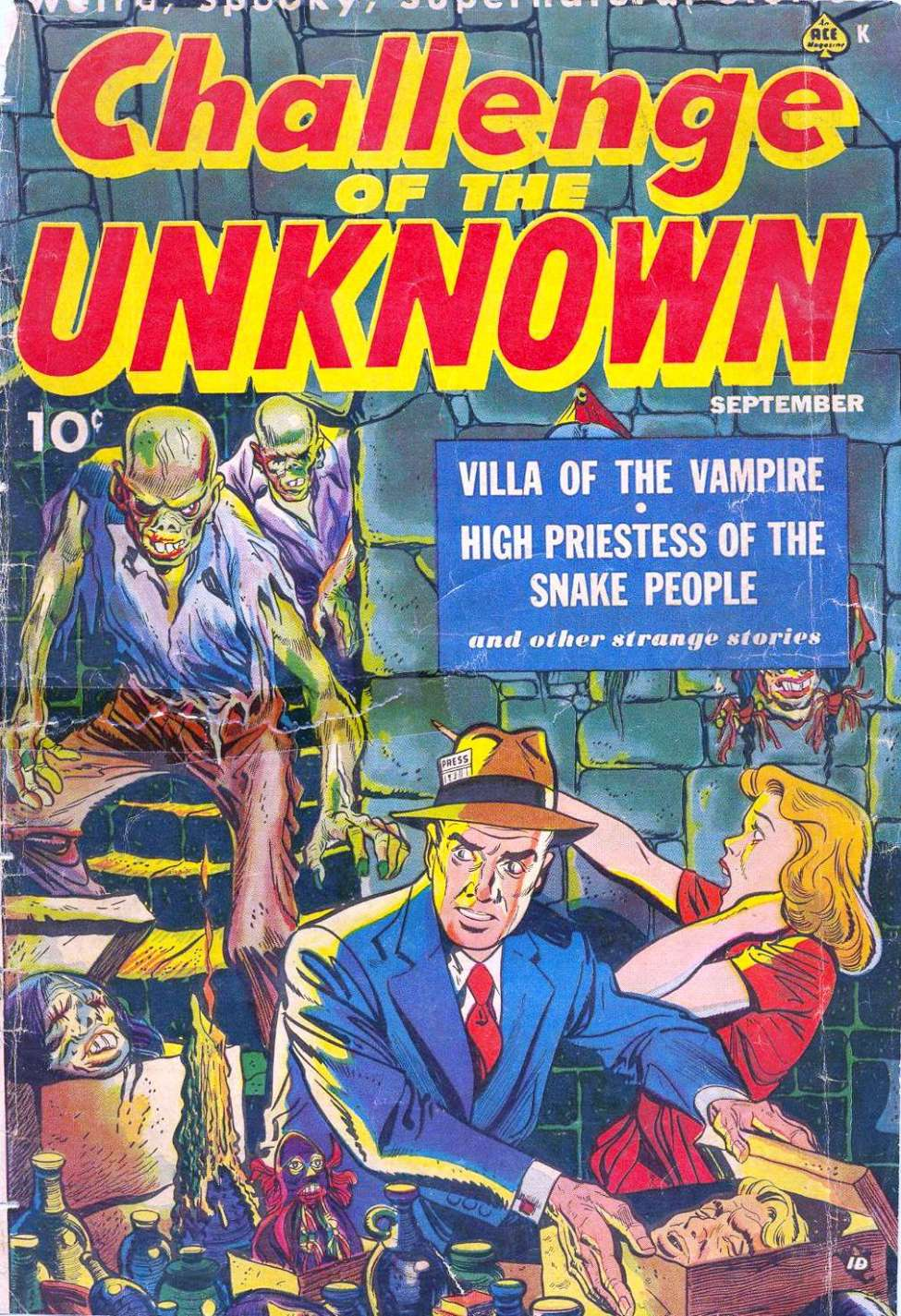 Comic Book Cover For Challenge of the Unknown #6