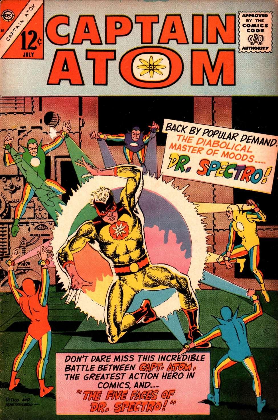 Comic Book Cover For Captain Atom #81