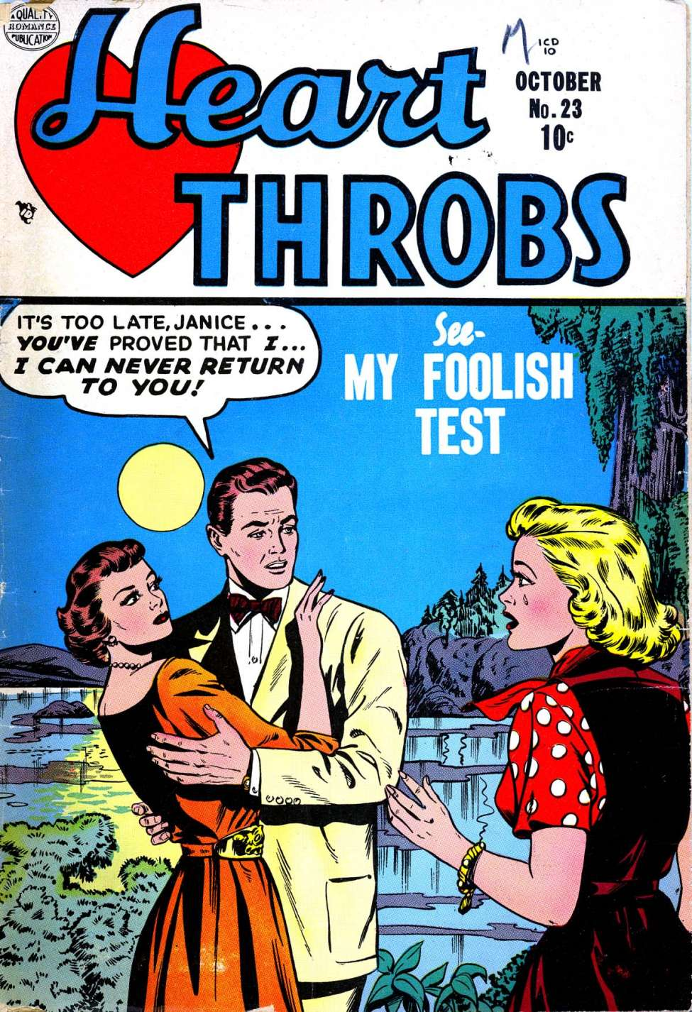 Comic Book Cover For Heart Throbs #23