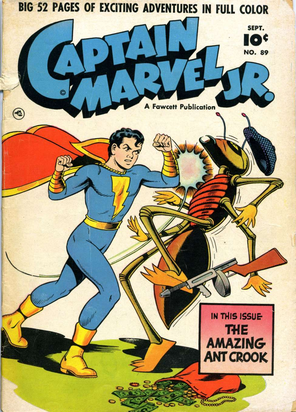 Comic Book Cover For Captain Marvel Jr. #89