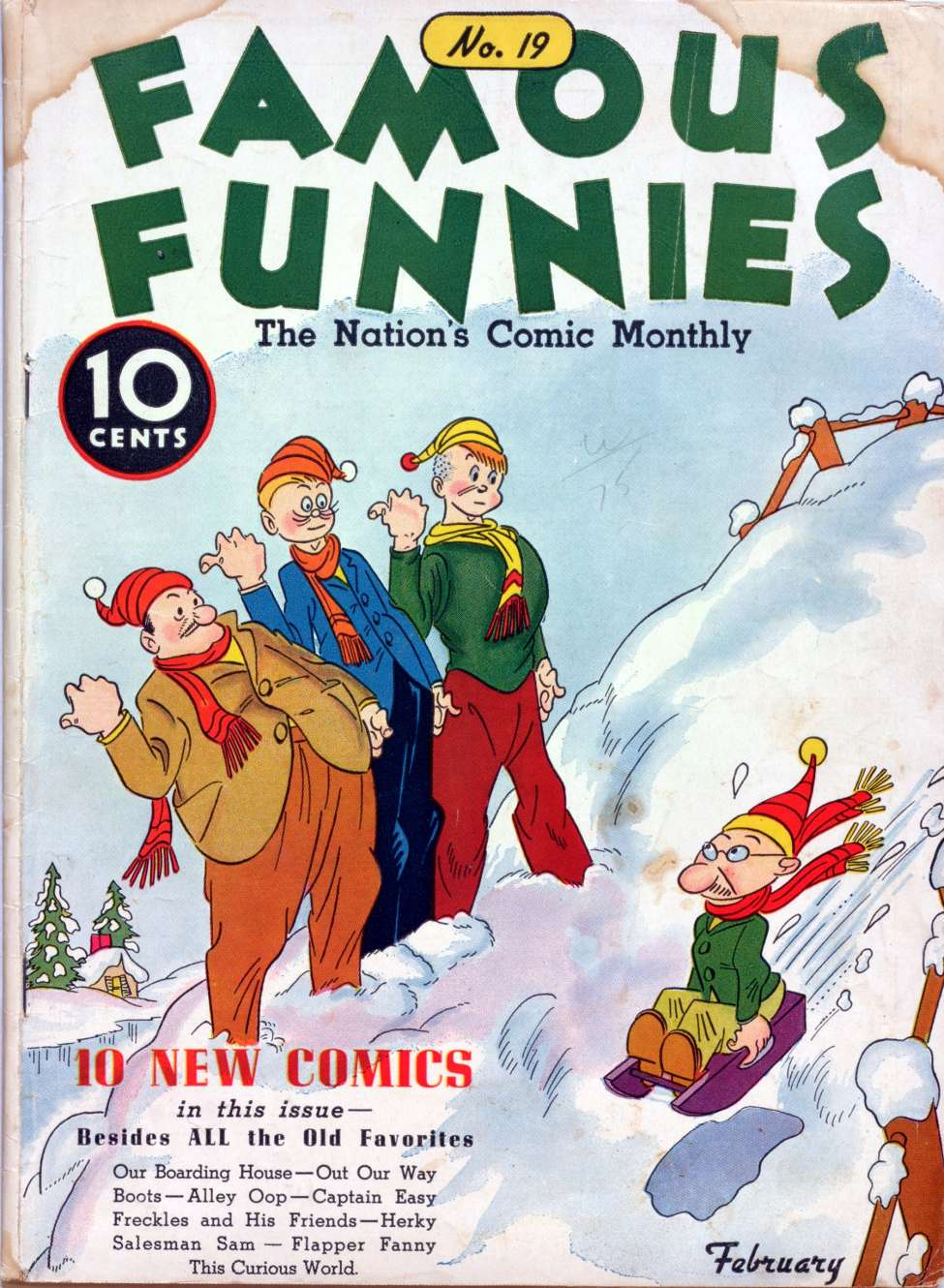 Comic Book Cover For Famous Funnies #19