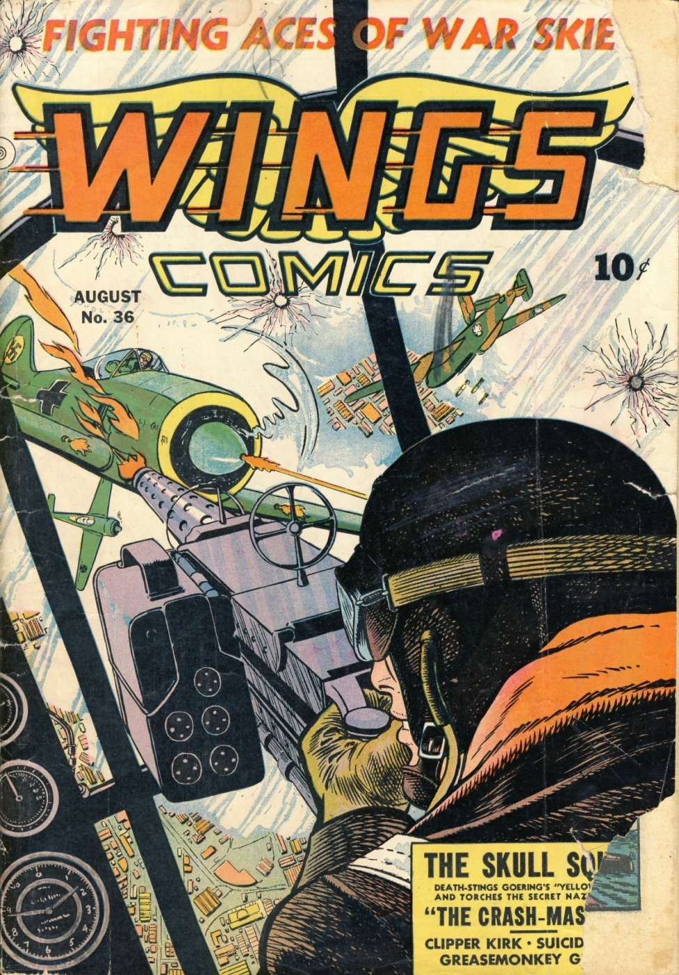 Comic Book Cover For Wings Comics #36