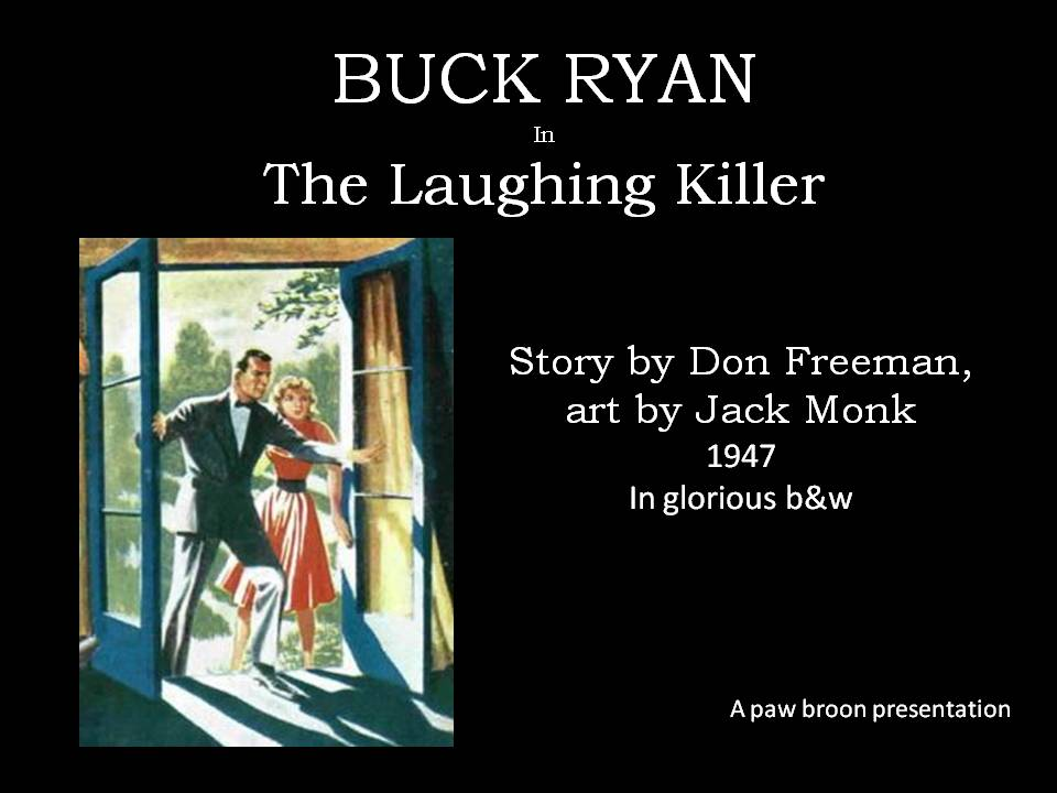 Comic Book Cover For Buck Ryan - The Laughing Killer