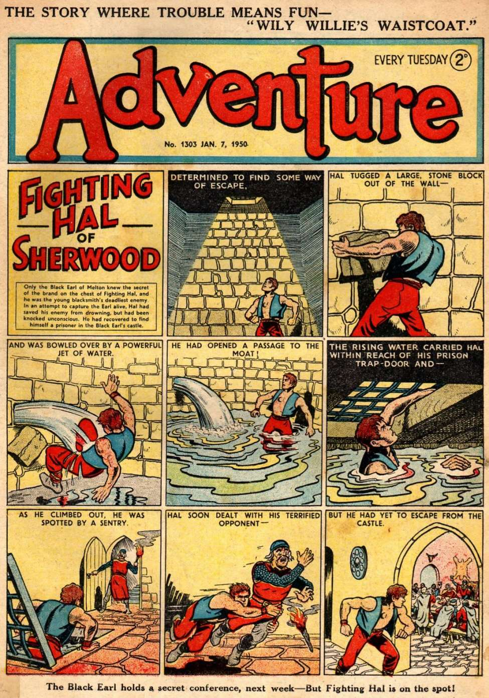 Comic Book Cover For Adventure 1303