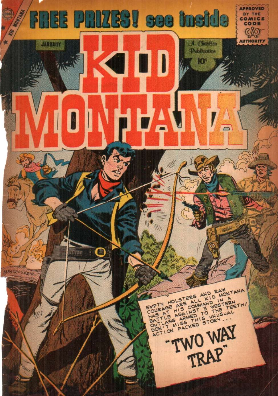 Comic Book Cover For Kid Montana #21