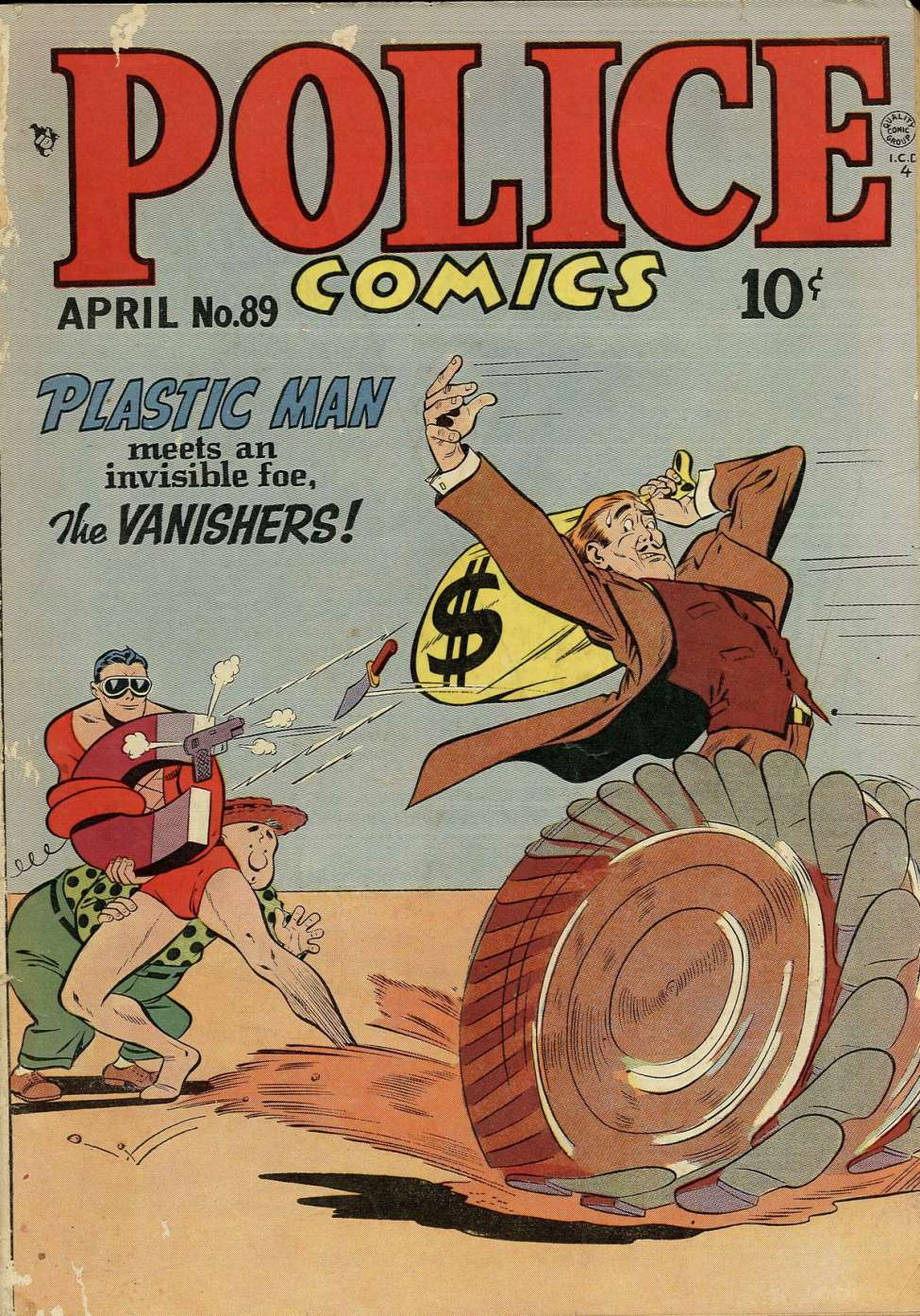 Comic Book Cover For Police Comics #89
